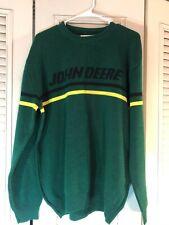 Vintage 1980's John Deere Green/Yellow Acrylic Medium Knit Sweater