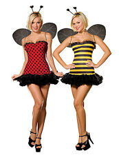 NWT SEXY 2 IN 1 REVERSIBLE LADYBUG BUMBLE BEE Halloween Cosplay Costume S
