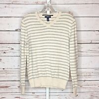 Gap womans long sleeve V neck striped sweater size xs