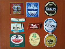 Lot of 9 beer labels from ESTONIA (all different)
