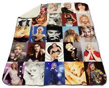 "Madonna Collage Winter Blanket 60"" x 80"" Queen Size Fleece Warm Christmas"