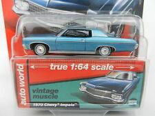 2017 AUTO WORLD 1:64 *PREMIUM HOBBY EX* BLUE 1970 Chevrolet Impala SS *NIP*