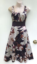 DIANA FERRARI Shiny Floral Pleat Bodice Evening Dress sz 6
