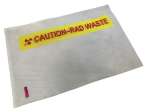 "Radioactive Waste Clear Plastic Bags 12"" X 14"" - Box of 250"