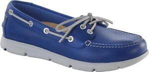 BIRKENSTOCK SHOES TENNESSEE MID BLUE LEATHER WOMEN'S REGULAR LOAFERS LACE UP