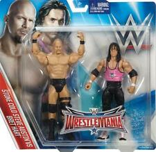 BRET HART & STEVE AUSTIN WRESTLEMANIA 32 WWE MATTEL ACTION FIGURE TOY - MINT