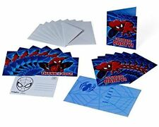 Marvel Ultimate Spiderman Birthday Party Invitations and Thank You Cards 8 Each