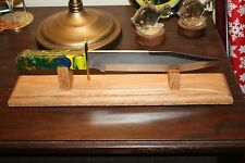 """16"""" Solid Oak Bowie Knife Display Stand"""