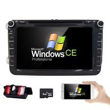 "Pour VW Volkswagen Double 2 Din Voiture Dash 8""DVD Player GPS Radio Stereo Sat Nav"