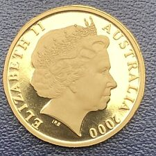 AUSTRALIA 2000-$1  PROOF BRONZE COIN IN 2x2 Coin HOLDER ,