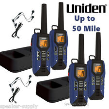 Uniden GMR5095-2CKHS 4 Pack Lot Waterproof Two Way Radio Walkie Talkie 50 Mile