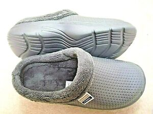 NEW Town & Country grey fleece - lined garden CLOGS--Size 6 UK.