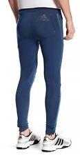$130 Adidas ClimaHeat Men's Sz SMALL Long Tights Run Pants Mineral Blue AX7563