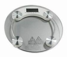 Báscula digital peso de baño cristal redonda templado LCD PRECISION HASTA 180K