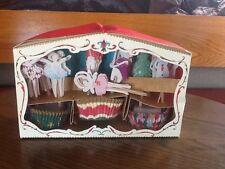 Meri MERI NUTCRACKER THEATER Cupcake Decor Kit NEW Christmas NIB