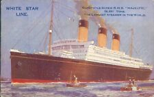 More details for white star line r.m.s majestic largest steamer in the world 1927 advertising
