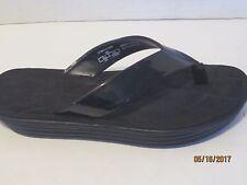 Zara Trafaluc Black flip flops thick quilted Sandals Size 40 10 s2