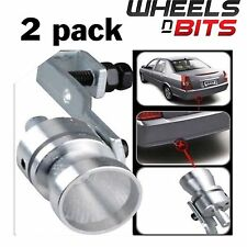 2x Car Exhaust Pipe Tailpipe Whistler Sporty Turbo Dump Valve Sound Whistle