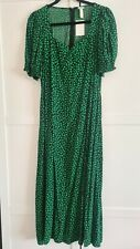 H&M puff sleeve sweetheart floral midi dress Size 16 Current