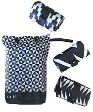 Envirosax Two Tone Pouch set of 3 reusable shopping bags black & white