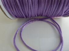 10 mètres (10M) violet lilas 2mm rattail queue de rat fil de nylon beading cord (F86