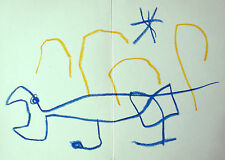MIRO LITHOGRAPH w/COA. gift of magical 1962 Joan Miró litógrafo RARE VINTAGE ART
