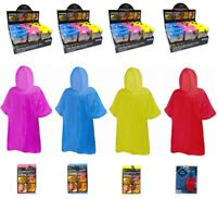 Childrens Kids REUSABLE Waterproof Poncho Emergency Cape Raincoat Hiking Walk