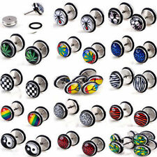 Acrylic Fake Cheater Earring Plug Stud Stretcher Taper Ear Piercing Wholesale