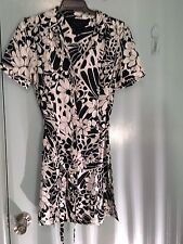 Tommy Hilfiger black and white silk dress in size 4