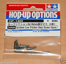 Tamiya 54409 3x14mm Low Friction Step Screw (4 Pcs.) (M05/M06/M05 S-Spec/M05V2)