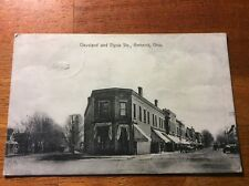 Postcard Amherst, Ohio. Cleveland and Elyria Streets.