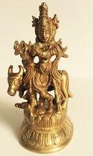 Krishna Messing Janamashtami Statue Kuh Krisna Kishan Antik Murthi Hindu Iskcon