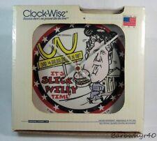 1993 Bill Clinton Slick Willy Political McDonald's Sattire Wall Clock