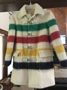 Hudson Bay Blanket Coat With Hood Womens 12 Rare Hard To Find Vintage 1970s?