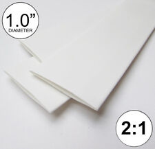 "1.0"" ID White Heat Shrink Tubing 2:1 ratio 1"" wrap (10 ft) inch/feet/to 25mm"