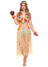 Adult Female Hawaiian Fancy Dress Dressing Up Outfit Costume Hen Do NEW