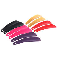 2Pcs Calzador de Plástico Forma de Cuchara de Cuerno de Zapato de Plást*QA