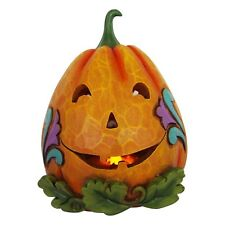 Jim Shore*2 SIDE LIGHTED JACK O' LANTERN PUMPKIN*New*GOOD/EVIL*Halloween*6001549