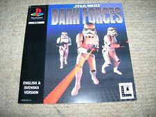 STAR WARS DARK FORCES – PS1 PAL Front Box Art Insert Only