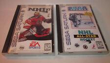 NHL 97 (Sega Saturn, 1996) & NHL All-Star Hockey Complete CIB Games Good Shape