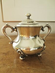 Antique Silver Plated Sugar Bowl Simpson Hall Miller & Co.