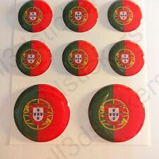 Autocollants Portugal Adhésif Drapeau Portugal 3D Résine Relief Autocollant Rond