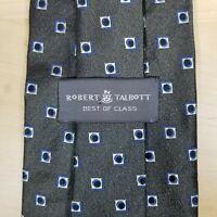 Robert Talbott Best of Class Necktie Gray Geometric Wide 100% Silk Handsewn USA