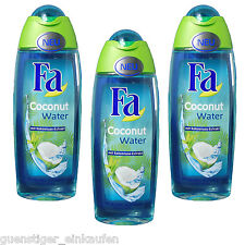 (13,07€/L) 3x 8.5oz Fa Coconut Water Shower gel with Coconut Extract fresh NEW