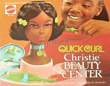 "CHRISTIE BEAUTY CENTER  (NOT TOY) Fridge MAGNET 2"" x 3""  VTG ART BLACK BARBIE"