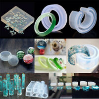 DIY Silicone Clear Mold Making Jewelry Pendant Resin Casting Mould Craft Tools