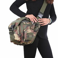 Military Tactical Camera Shoulder Messenger Bag Camping Travel Hiking Saddle Bag