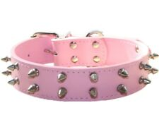 Medium Large Breed Dog Collar Leather Spiked Studded Dog Collar Pitbull Terrier
