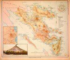 PHILIPPINE ISLANDS - LUZON - ALBAY - SORSOGON 1899 Original Antique Map
