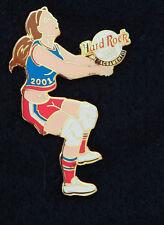 Hard Rock Cafe Pin Sacramento VOLLEYBALL GIRL player female sport hat UNIFORM le